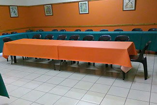 An alternative look at one of the conference rooms available at Ekukhanyeni