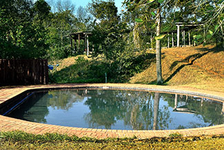 A photo of the refreshing sparkling pool at Ekukhanyeni