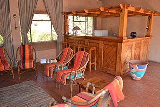 One of the guest lounges at Ekukhanyeni